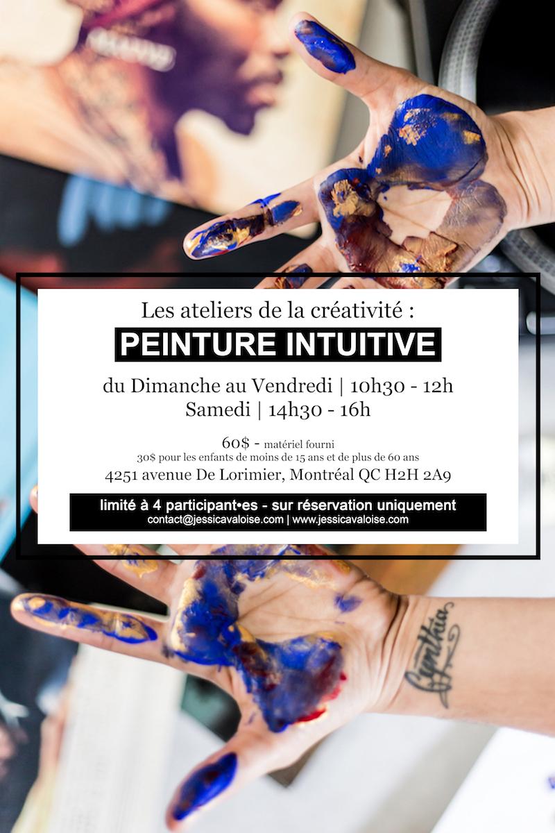 Peintuire Intuitive Montréal Jessica VALOISE