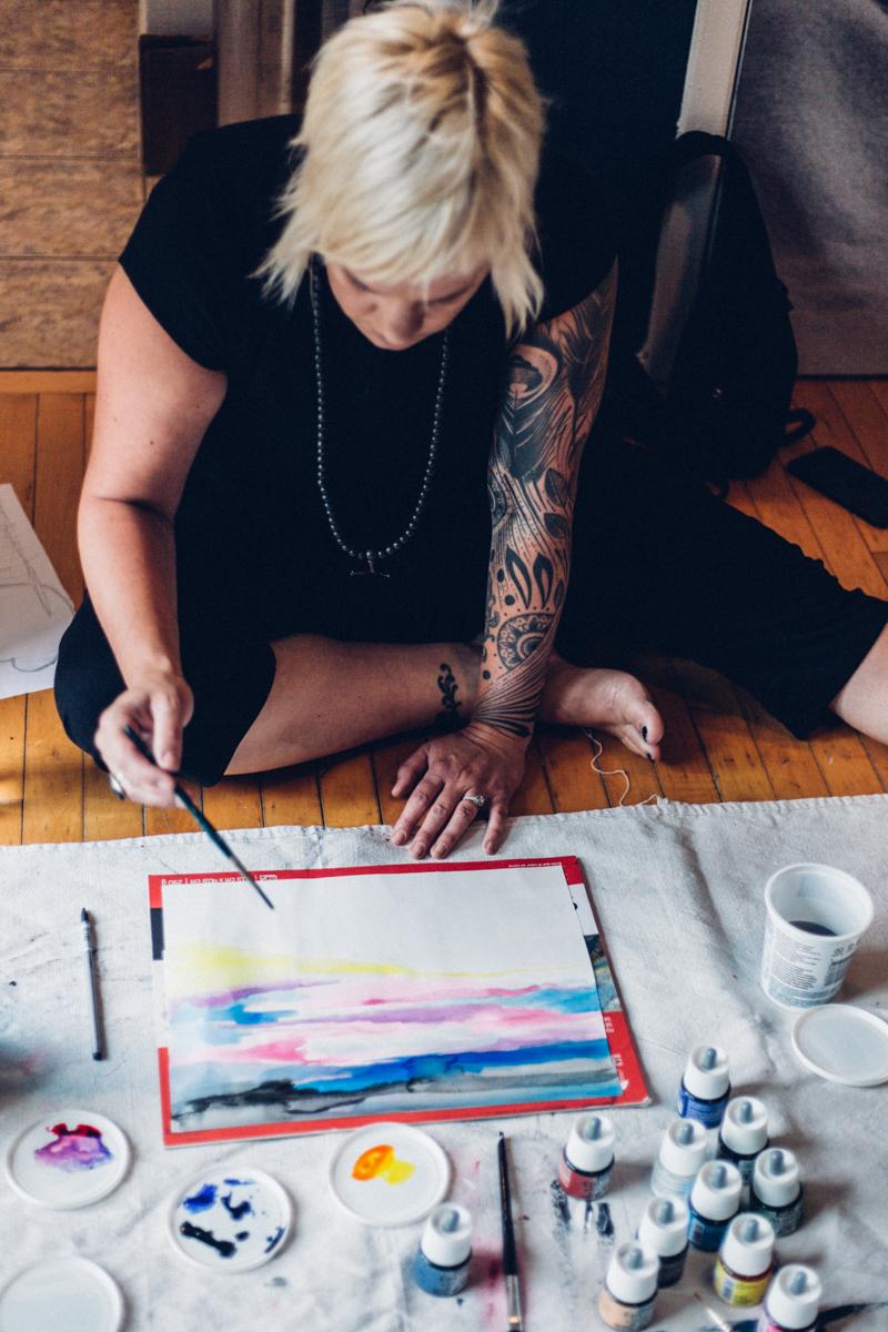 Peinture Intuitive Montréal Jessica VALOISE
