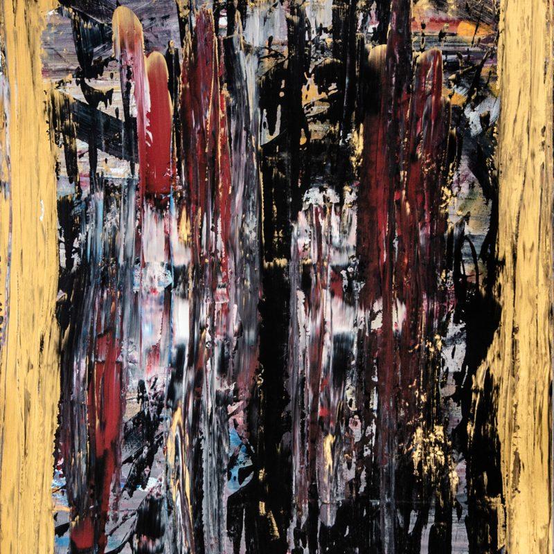 2019, Tableau Abstrait Synesthésie de l'album Silvère de Sly Johnson | acrylique sur toile 89cm x 116cm